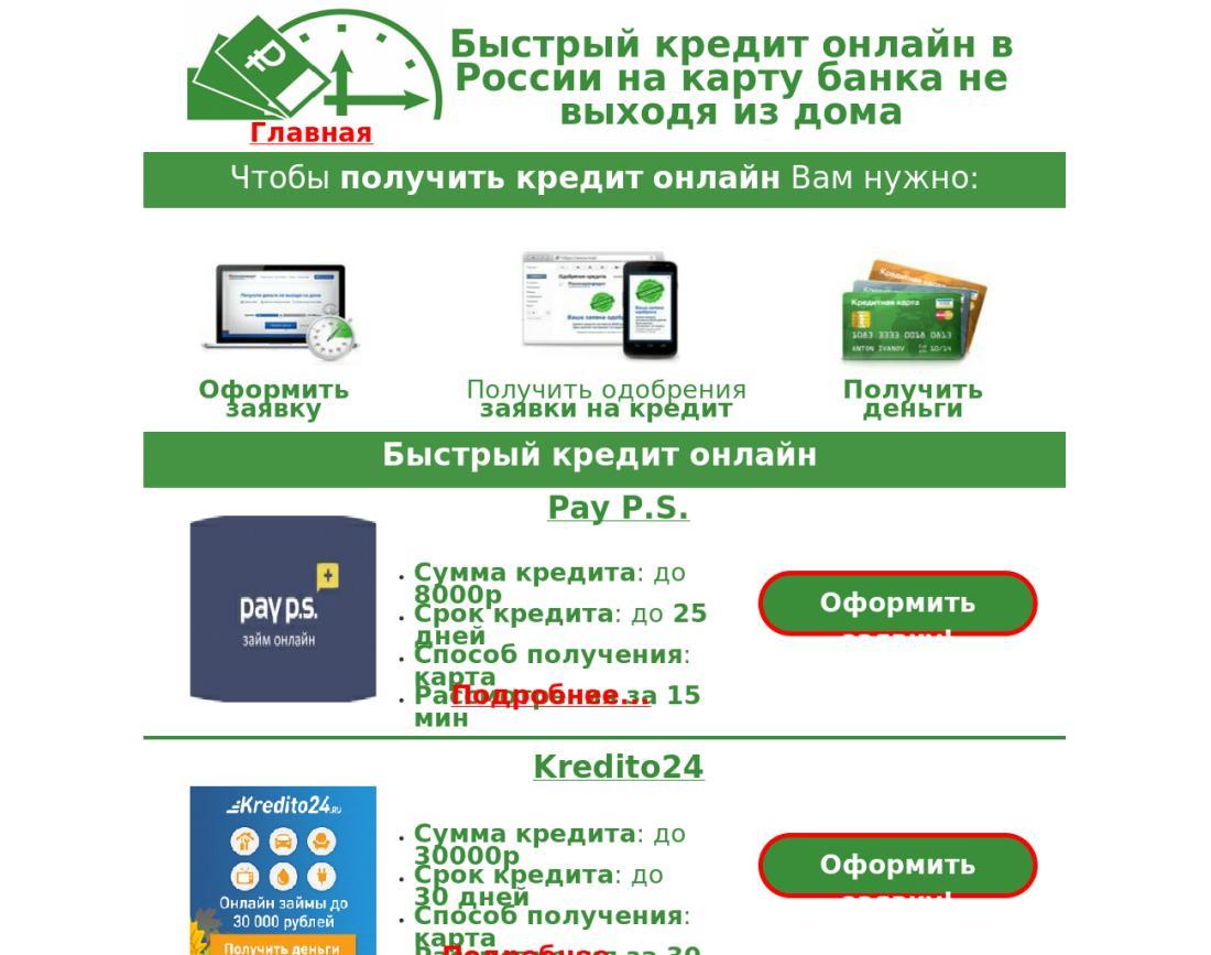 онлайн займы на банковскую карту срочно